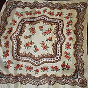 Винтаж handmade. Livemaster - original item A scarf in a Baroque style,100% silk,England. Handmade.