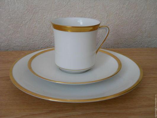 Винтажная посуда. Ярмарка Мастеров - ручная работа. Купить THOMAS (Германия 60-70 г.)  винтажное фарфоровое чайное трио. Handmade.