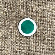 Материалы для творчества handmade. Livemaster - original item Overglaze paint SHINCERAMIC No. №3486 turquoise. Handmade.