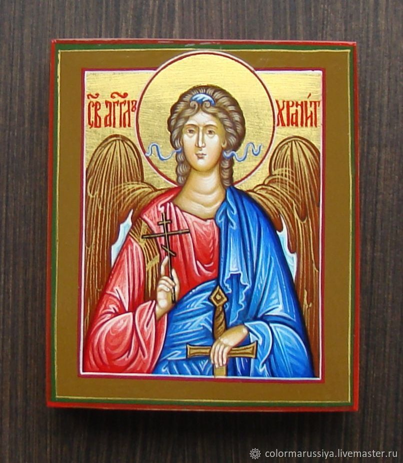 The icon of the Guardian angel (handwritten), Icons, Vyazniki,  Фото №1