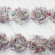 Материалы для творчества ручной работы. Ярмарка Мастеров - ручная работа ЗD Шифоновые розочки. Handmade.