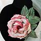 """Цветы ручной работы. Роза из шелка """"Amore mio"""" и брошь и украшение для волос. Михеева (Лядова ) Ирина (mikha207). Ярмарка Мастеров."""