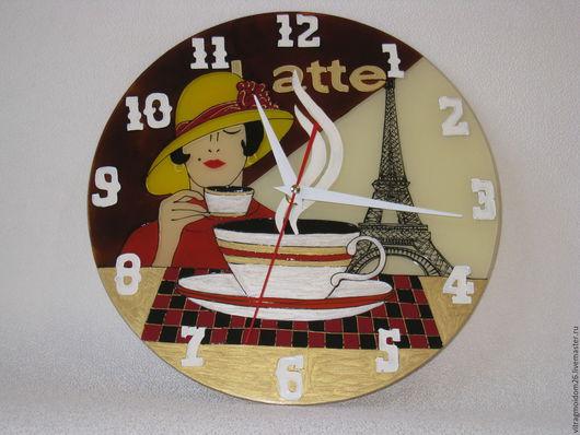 Часы для дома ручной работы. Ярмарка Мастеров - ручная работа. Купить часы настенные LATTE. Handmade. Коричневый, кофе