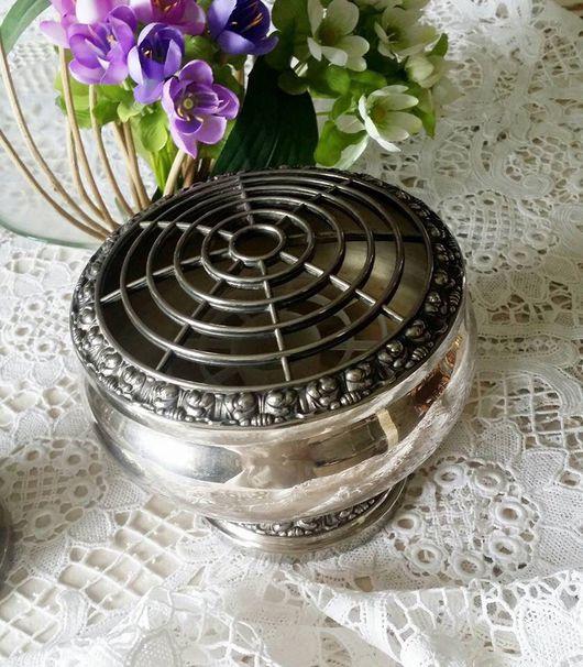 Винтажная посуда. Ярмарка Мастеров - ручная работа. Купить Изысканная ваза для цветочных композиций ( rose bowl) Англия. Handmade.