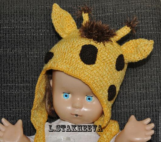 Шапки и шарфы ручной работы. Ярмарка Мастеров - ручная работа. Купить шапка жираф. Handmade. Комбинированный, хлопок
