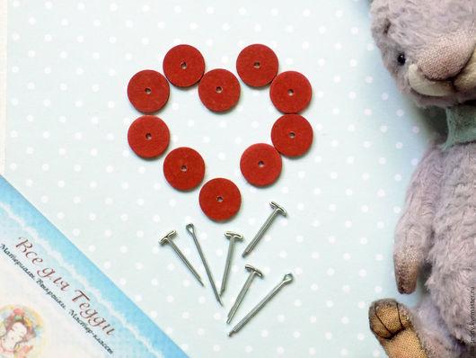Куклы и игрушки ручной работы. Ярмарка Мастеров - ручная работа. Купить Крепления для мини Тедди - диски и шплинты. Handmade. Комбинированный