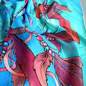 Аксессуары handmade. Livemaster - original item Handpainted batik stole DREAM CATCHER  natural silk. Handmade.