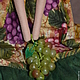 Куклы Тильды ручной работы. Тильда,,Ангел винограда,,. Елена (elenadollworld). Интернет-магазин Ярмарка Мастеров. Зеленый, виноградная гроздь