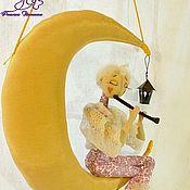Куклы и игрушки ручной работы. Ярмарка Мастеров - ручная работа Серенада лунного флейтиста (декор для спальни). Handmade.