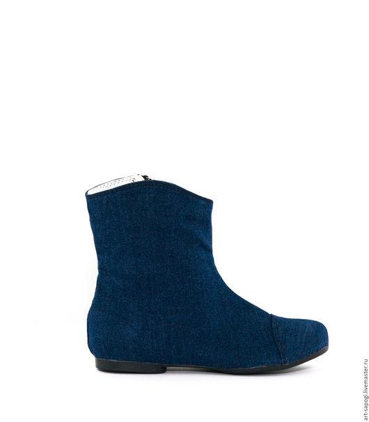 Обувь ручной работы. Ярмарка Мастеров - ручная работа. Купить Летние сапоги 3-153. Handmade. Сапоги ручной работы