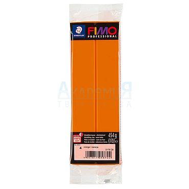 Материалы для творчества ручной работы. Ярмарка Мастеров - ручная работа Фимо FIMO professional полимерная глина 8041-4 оранжевый. Handmade.
