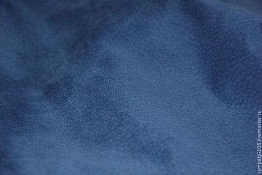 Шитье ручной работы. Ярмарка Мастеров - ручная работа. Купить Замша натуральная синяя (Васильковый). Handmade. Тёмно-синий