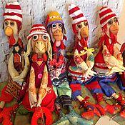 Куклы и игрушки ручной работы. Ярмарка Мастеров - ручная работа интерьерный арт- объект-ПЕТУХИ-символ года (АКЦИЯ). Handmade.