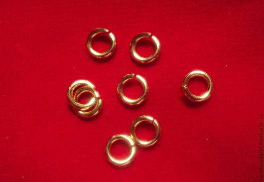 Для украшений ручной работы. Ярмарка Мастеров - ручная работа. Купить Колечки 5 мм (серебро в позолоте). Handmade. Золотой