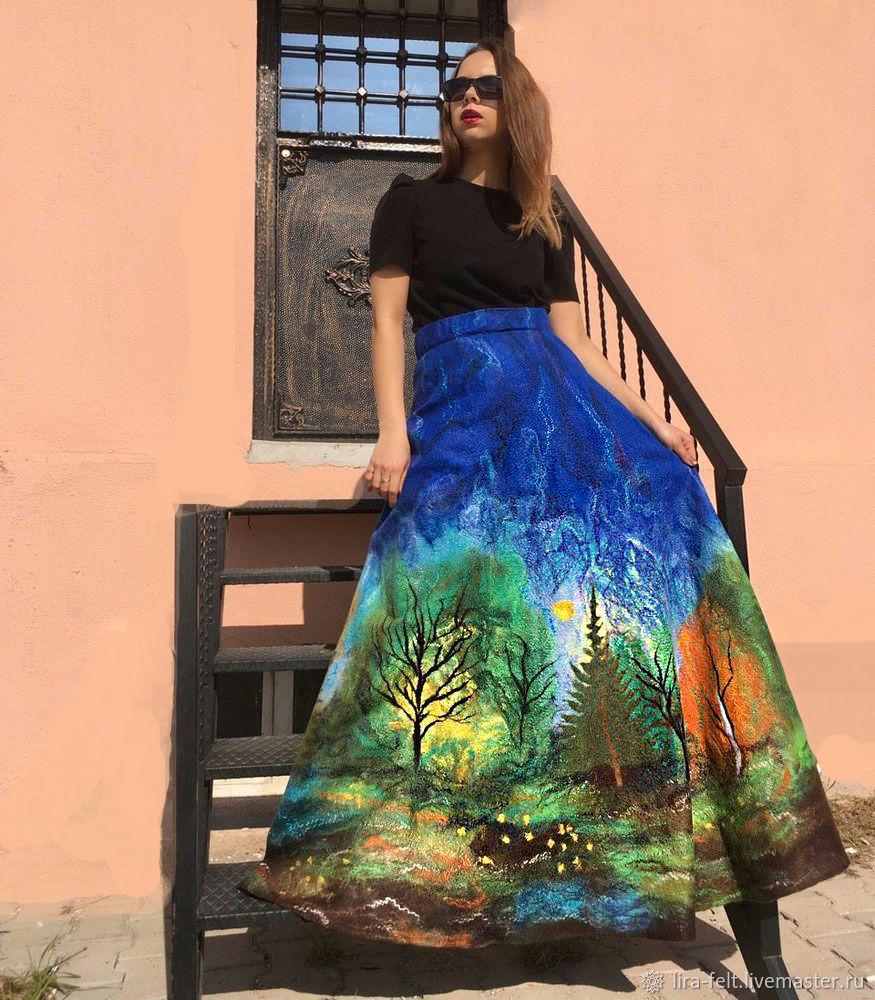 "Роскошная юбка ""Сила природы"", Юбки, Магнитогорск,  Фото №1"