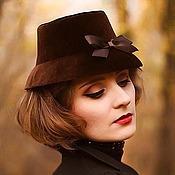 handmade. Livemaster - original item Velvet hat exclusive. Handmade.