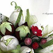 Цветы и флористика ручной работы. Ярмарка Мастеров - ручная работа Букет из подснежников в кулечке. Handmade.
