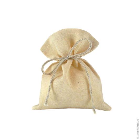 Подарочная упаковка ручной работы. Ярмарка Мастеров - ручная работа. Купить Мешочки хлопковые, бежевые. Handmade. Бежевый, упаковка для подарка
