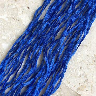"""Материалы для творчества ручной работы. Ярмарка Мастеров - ручная работа Синель шелковая 1.5 мм (США) - 1 метр """" Big Bad Blue"""". Handmade."""