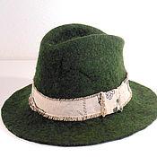 Аксессуары handmade. Livemaster - original item Moss green hat. Handmade.