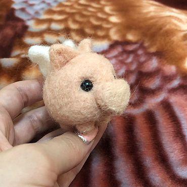 Куклы и игрушки ручной работы. Ярмарка Мастеров - ручная работа Пирожок хрюня. Handmade.