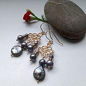 Украшения handmade. Livemaster - original item Freshwater pearl earrings