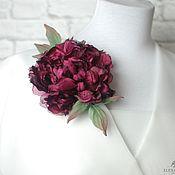 Украшения handmade. Livemaster - original item Brooch-pin: Silk flowers. Rose