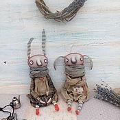 Куклы и игрушки ручной работы. Ярмарка Мастеров - ручная работа Зайки в одеяле. Handmade.