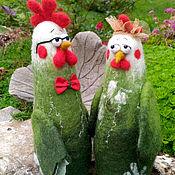 Куклы и игрушки ручной работы. Ярмарка Мастеров - ручная работа Петушок и Курица. Handmade.