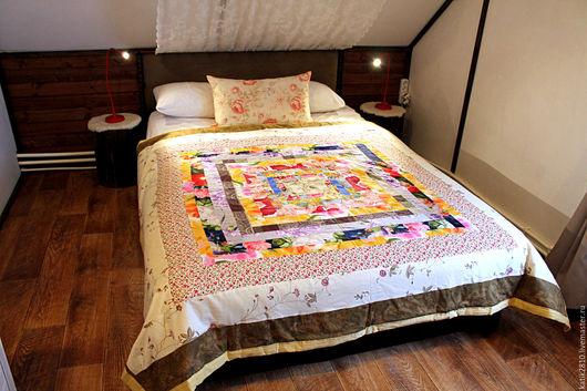 """Текстиль, ковры ручной работы. Ярмарка Мастеров - ручная работа. Купить Лоскутное покрывало """"Country"""". Handmade. Лоскутное покрывало, покрывало"""