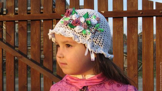 Шапки и шарфы ручной работы. Ярмарка Мастеров - ручная работа. Купить панамка летняя для девочки с вышивкой. Handmade. Белый