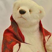 Куклы и игрушки ручной работы. Ярмарка Мастеров - ручная работа Уютный белый Миша. Handmade.