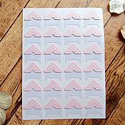 Материалы для творчества ручной работы. Ярмарка Мастеров - ручная работа Уголки для фото розовые 1 лист. Handmade.