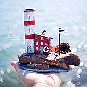 """Для дома и интерьера ручной работы. Ярмарка Мастеров - ручная работа Морская композиция """"На краю земли"""" driftwood. Handmade."""