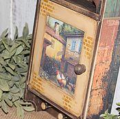 """Для дома и интерьера ручной работы. Ярмарка Мастеров - ручная работа Ключница """"Уютный дворик"""". Handmade."""