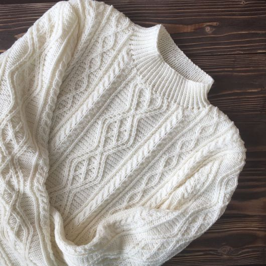 Кофты и свитера ручной работы. Ярмарка Мастеров - ручная работа. Купить Джемпер ручной работы. Handmade. Джемпер, джемпер с косами