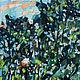 Картина пейзаж маслом Солнце садится Импрессионизм Анна Крюкова авторская живопись Яркая солнечная картина Лето картина