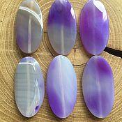 Материалы для творчества handmade. Livemaster - original item Agate beads large flat stones 50mm. Handmade.