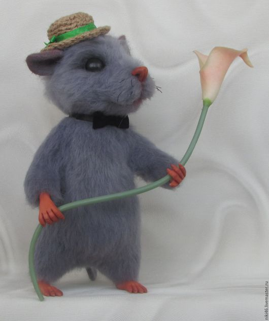Игрушки животные, ручной работы. Ярмарка Мастеров - ручная работа. Купить Крыс Крысыч. Handmade. Серый, мыши, фелтинг