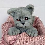 Мягкие игрушки ручной работы. Ярмарка Мастеров - ручная работа Британский голубой котенок. Handmade.