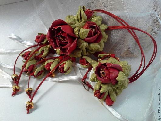 цветы из кожи. цветы кожаные. цветы из кожи в украшении. Туся. комплект кожаный . колье с цветами из кожи. браслет с цветами из кожи. розы из кожи. кожаные розы. украшение с цветами из кожи. украшение