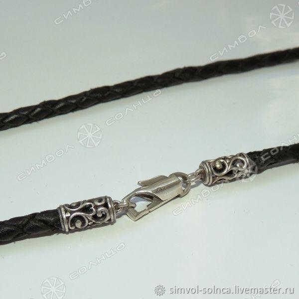 Cord, bracelet braided Rus (thickness 4 mm), Folk decorations, Sochi,  Фото №1