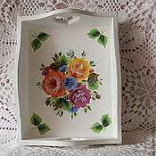 Для дома и интерьера handmade. Livemaster - original item Tray - plate with painted