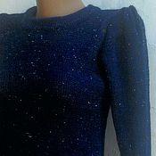 Одежда ручной работы. Ярмарка Мастеров - ручная работа Платье вязаное глубина вселенной. Handmade.