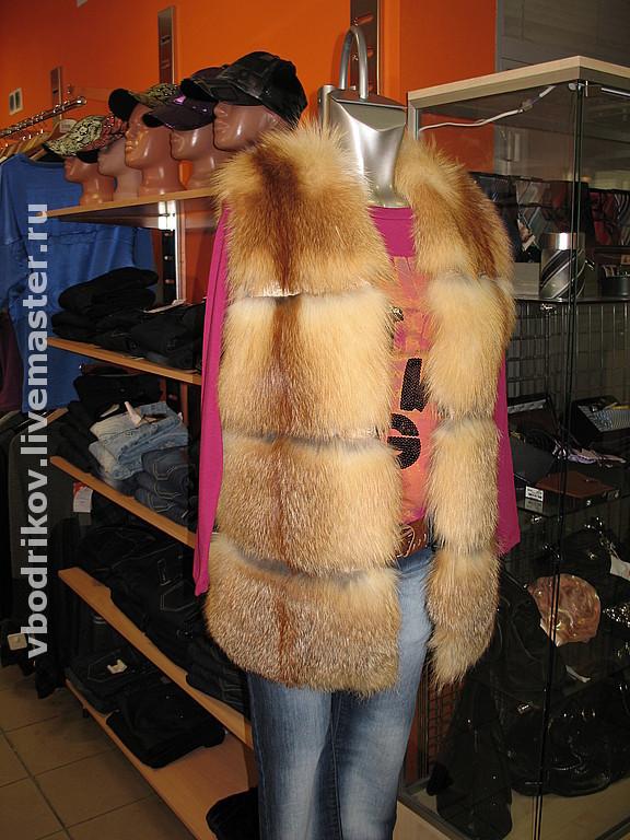 Пошив жилета из лисы своими руками 20