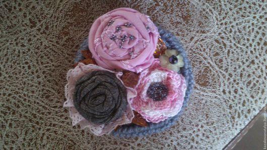 """Броши ручной работы. Ярмарка Мастеров - ручная работа. Купить Брошь """"Зимнее утро принцессы"""". Handmade. Розовый, Аксессуары handmade"""