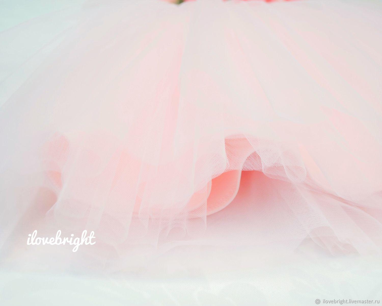 """Розовое платье """"Нежный жемчуг"""""""
