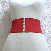 Аксессуары handmade. Livemaster - original item Belt-elastic band Red Medium, H-100mm, different price at different heights. Handmade.