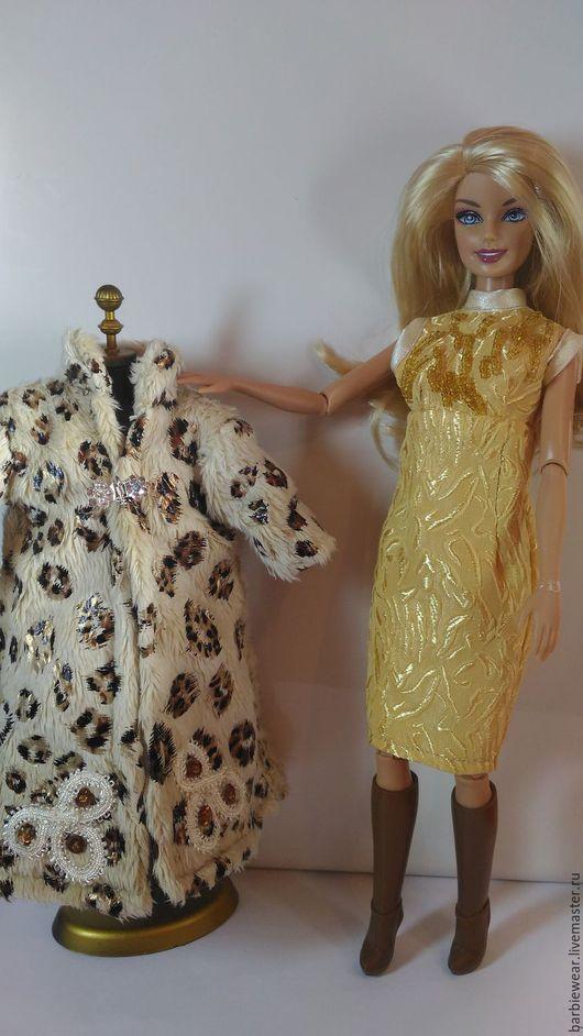 Одежда для кукол ручной работы. Ярмарка Мастеров - ручная работа. Купить Осенний комплект: пальто и платье. Handmade. Комбинированный