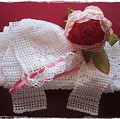 Работы для детей, ручной работы. Ярмарка Мастеров - ручная работа Крестильное платье для девочки крючком. Handmade.